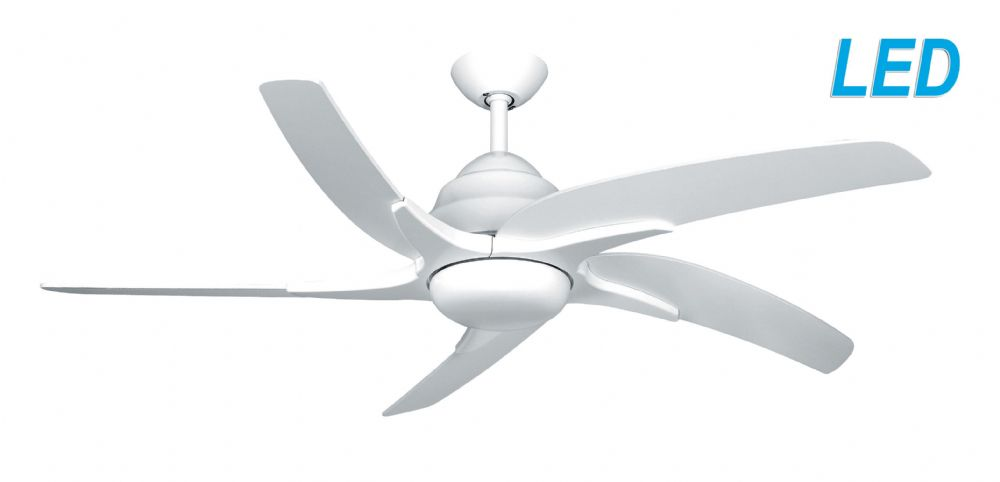 "Fantasia Elite Viper Plus 44"" White Ceiling Fan + Remote Control +  LED Light 116004"